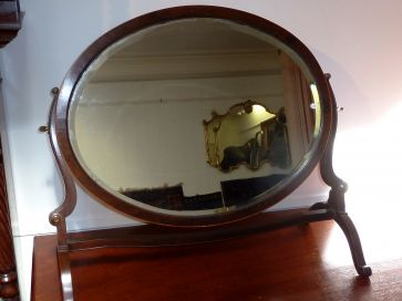 OVAL MAHOGANY DRESSING MIRROR