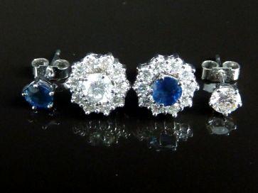 SAPPHIRE & DIAMOND 4 IN 1 EARRINGS