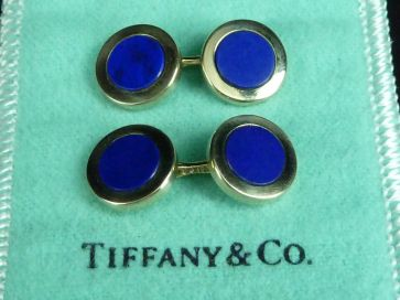 TIFFANY & Co. LAPIS LAZULI CUFFLINKS