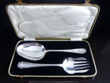 CASED SILVER PLATED SERVERS