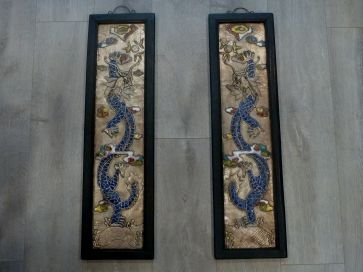 PAIR OF ORIENTAL DRAGON PICTURES