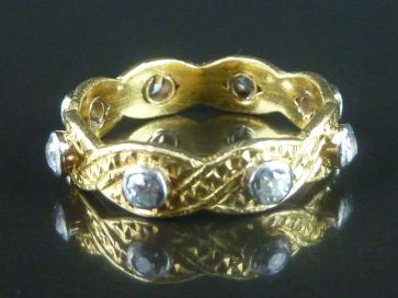 ANTIQUE DIAMOND RING 22CT - 1896