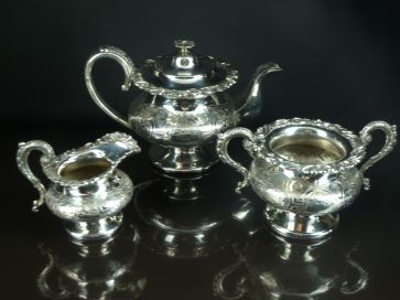 3 PIECE PLATED TEA SERVICE