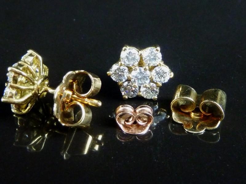 Watt S Antiques 7 Stone Diamond Cluster Earrings