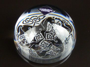 EDINBURGH CRYSTAL BOXED PAPER WEIGHT