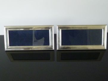 PAIR OF SOLID SILVER PHOTO FRAMES