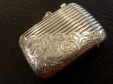 ORNATE SILVER VESTA BOX