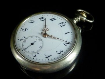 ENAMEL DIAL POCKET WATCH