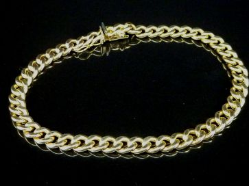 9CT YELLOW GOLD CHAIN BRACELET
