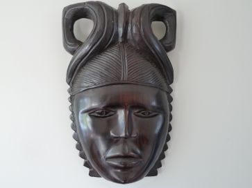 TRIBAL CARVED FACE MASK
