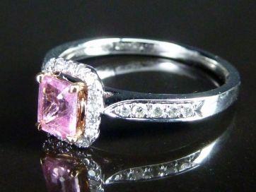 PINK SAPPHIRE & DIAMOND RING ***NEW***