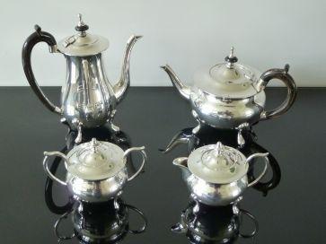 4 PIECE SILVER PLATED TEA SET