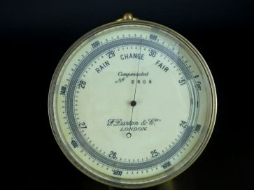 F.DARTON & Co. BRASS BAROMETER