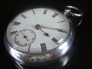 SILVER POCKET WATCH 1896