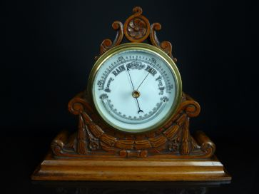 CARVED MANTLE BAROMETER