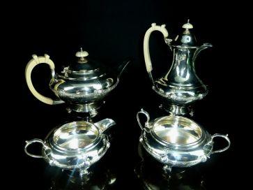 4 PIECE SHEFFIELD SILVER TEA SET