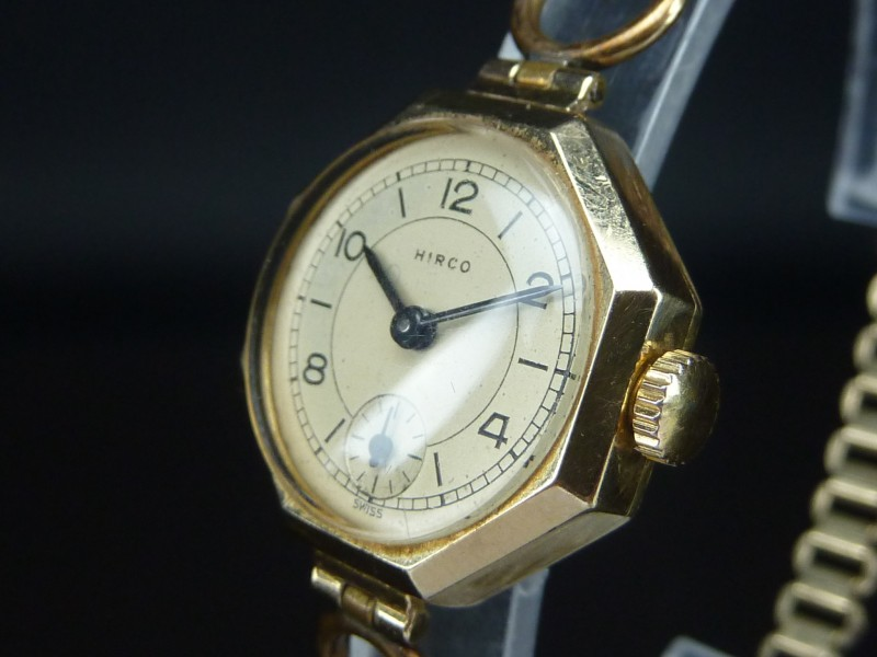 Watt S Antiques 9ct Gold Hirco Ladies Watch
