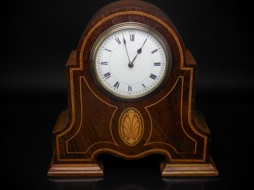 INLAID MANTLE CLOCK