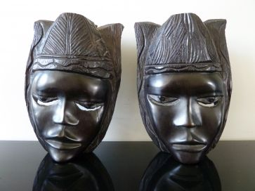 PAIR OF NATIVE TRIBAL CARVINGS