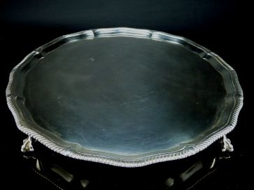 SOLID SILVER TRAY