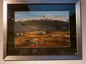 WINTER MOUNTAIN SCENE BY C. PICKWORTH