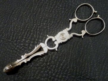 SILVER SCISSOR TONGS