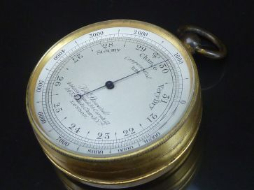 J W STEWARD POCKET BAROMETER