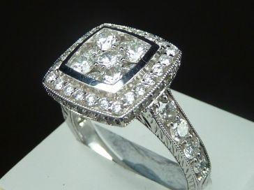 18K FANCY DIAMOND RING