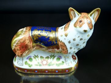 CROWN DERBY ROYAL WINDSOR CORGI