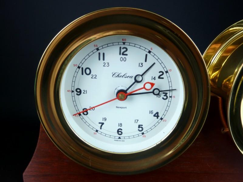 Watt S Antiques Brass Chelsea Barometer Clock Set