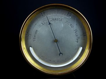 BRASS BAROMETER / THERMOMETER