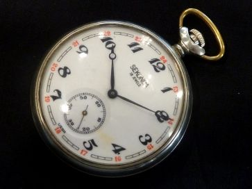 SEKONDA LOCOMOTIVE TRAIN POCKET WATCH