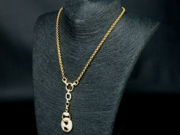 18CT Y.GOLD PAVE' DIAMOND NECKLACE