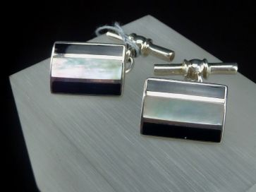 MOTHER OF PEARL SILVER CUFFLINKS