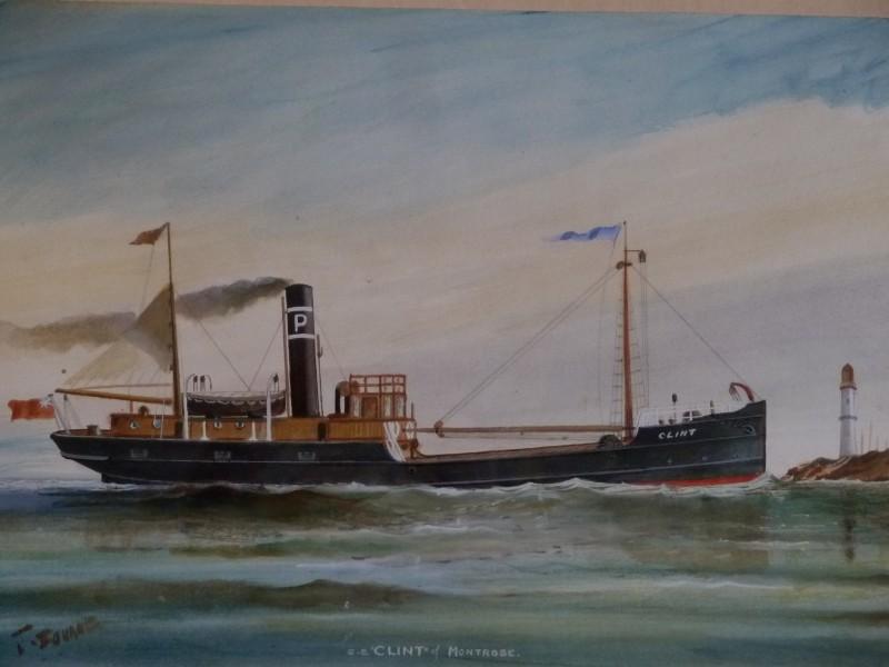 Watt S Antiques Water Colour Steam Cargo Ship