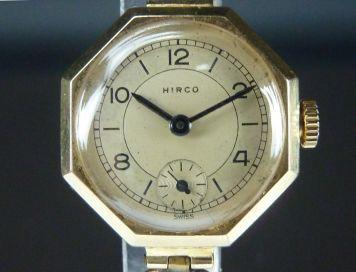 9CT GOLD HIRCO LADIES WATCH