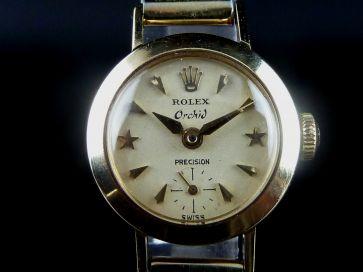 ROLEX 14K GOLD LADIES WATCH