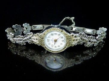 MARCASITE COCKTAIL WATCH