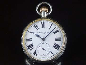 DUNHILL 8 DAY LARGE POCKET WATCH