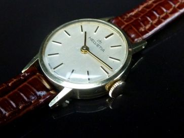 HELVETIA 14K GOLD LADIES WATCH