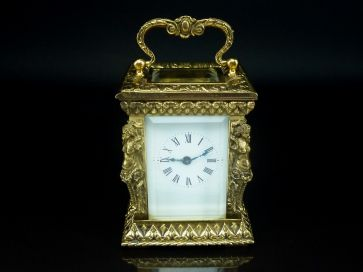 SMALL ORNATE CARRIAGE CLOCK