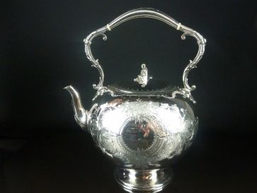 LARGE SILVER PLATED KETTLE