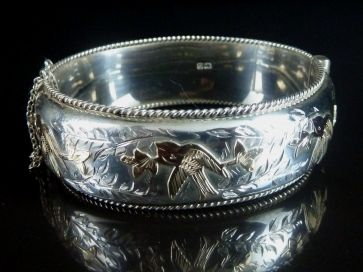 LARGE CHERSTER SILVER BANGLE 1957