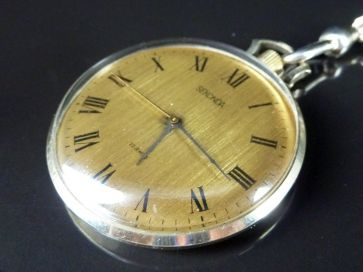 SEKONDA POCKET WATCH & CHAIN