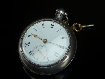 J. THOMPSON PAIR CASED POCKET WATCH