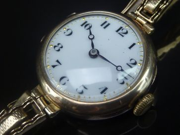 DIMIER FRERES & CO 9CT WATCH 1922