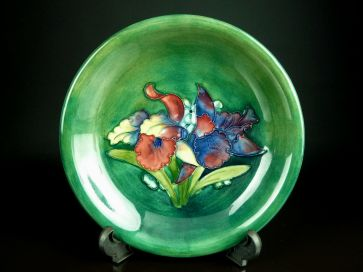 MOORCROFT ORCHID SIGNED PLATE