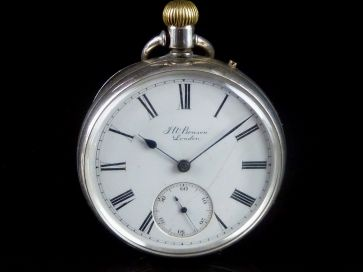BENSON SILVER POCKET WATCH
