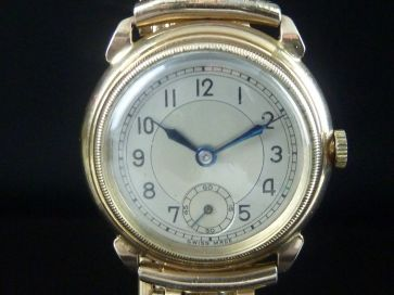 9CT GOLD STOLKACE WATCH 1943