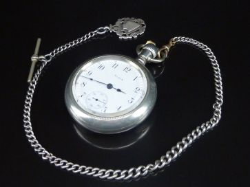 ELGIN POCKET WATCH - CHAIN & FOB
